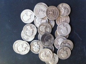 Junk Silver Coins, silver quarters